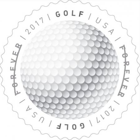 Golf ball stamps