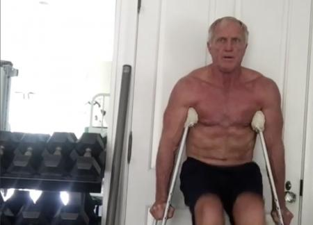 Greg Norman's new exercise regime