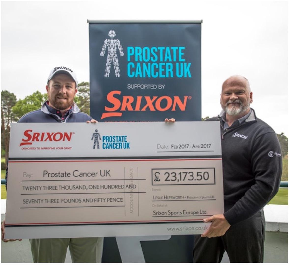 Srixon presents cheque for £23,173.50