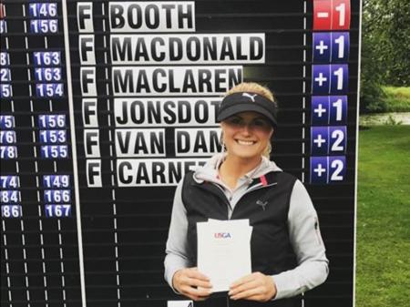 Carly Booth qualifies for US Women's Open