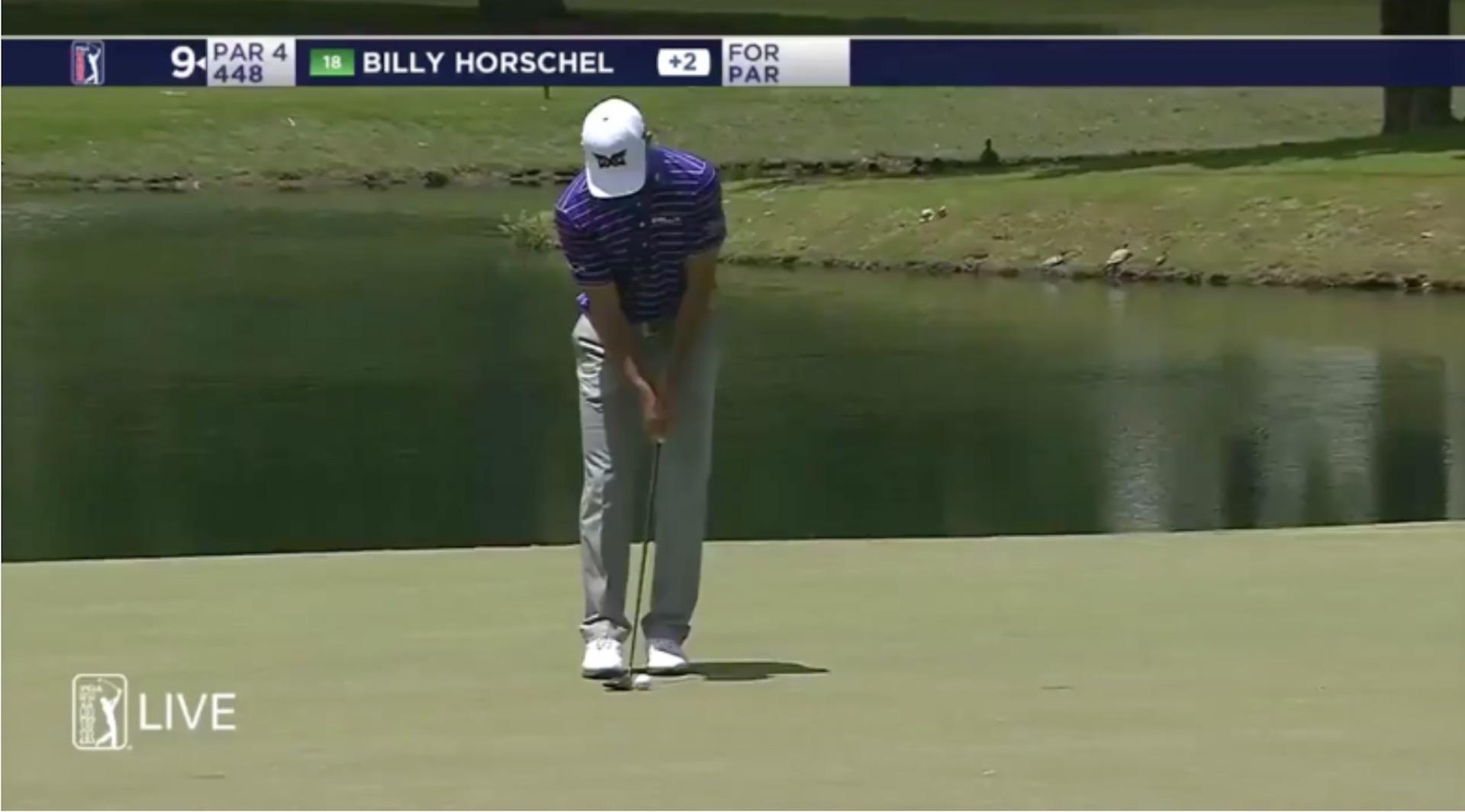 Billy Horschel breaks putter