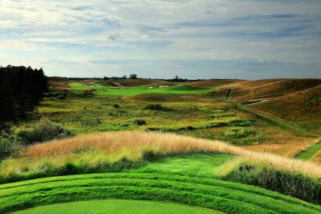 Erin Hills course guide front 9