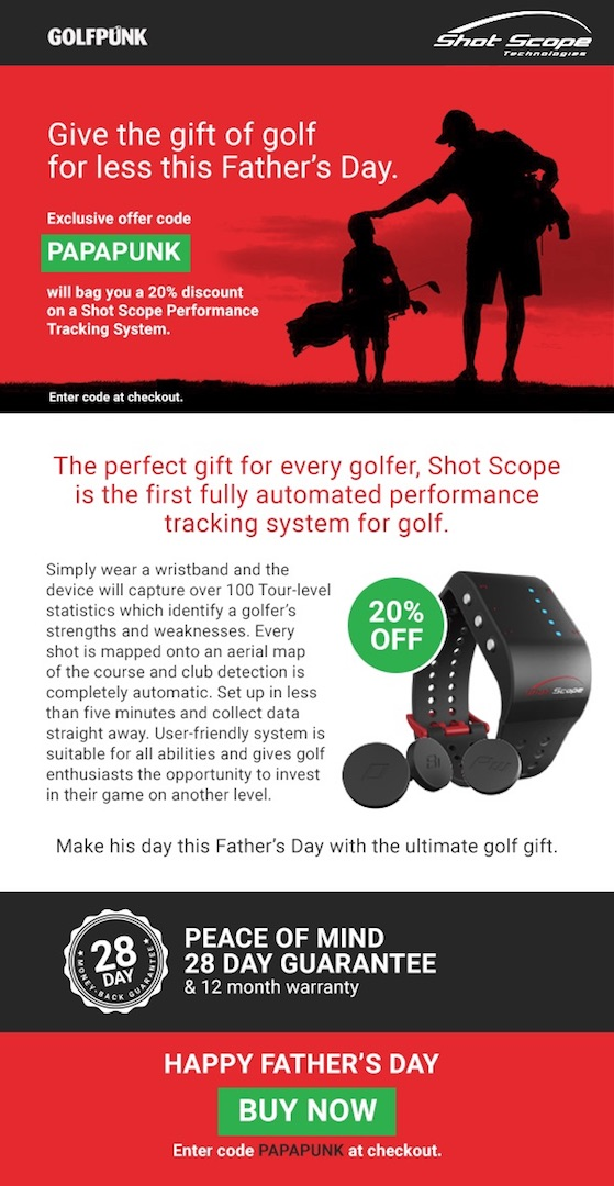 GolfPunk's Father's Day Special Offer