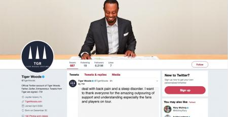 Tiger Woods makes frank announcement