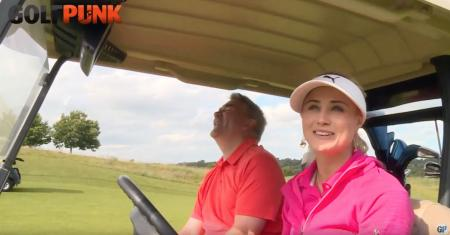 Carly Booth's driver off the deck challenge