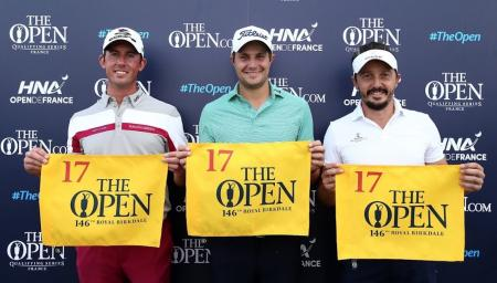 Seven players qualify for The Open