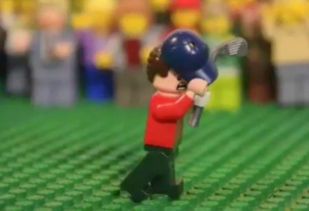 Justin Rose's famous shot on the 18th