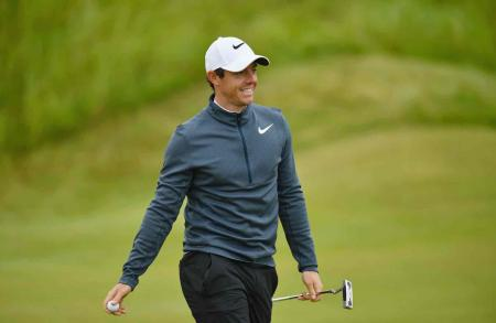 Rory McIlroy on the charge at Birkdale