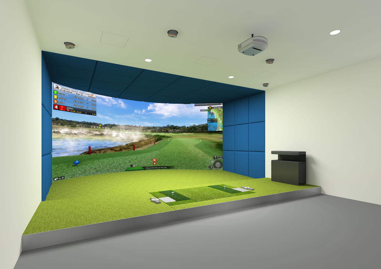 Golfzon at the GP Clubhouse