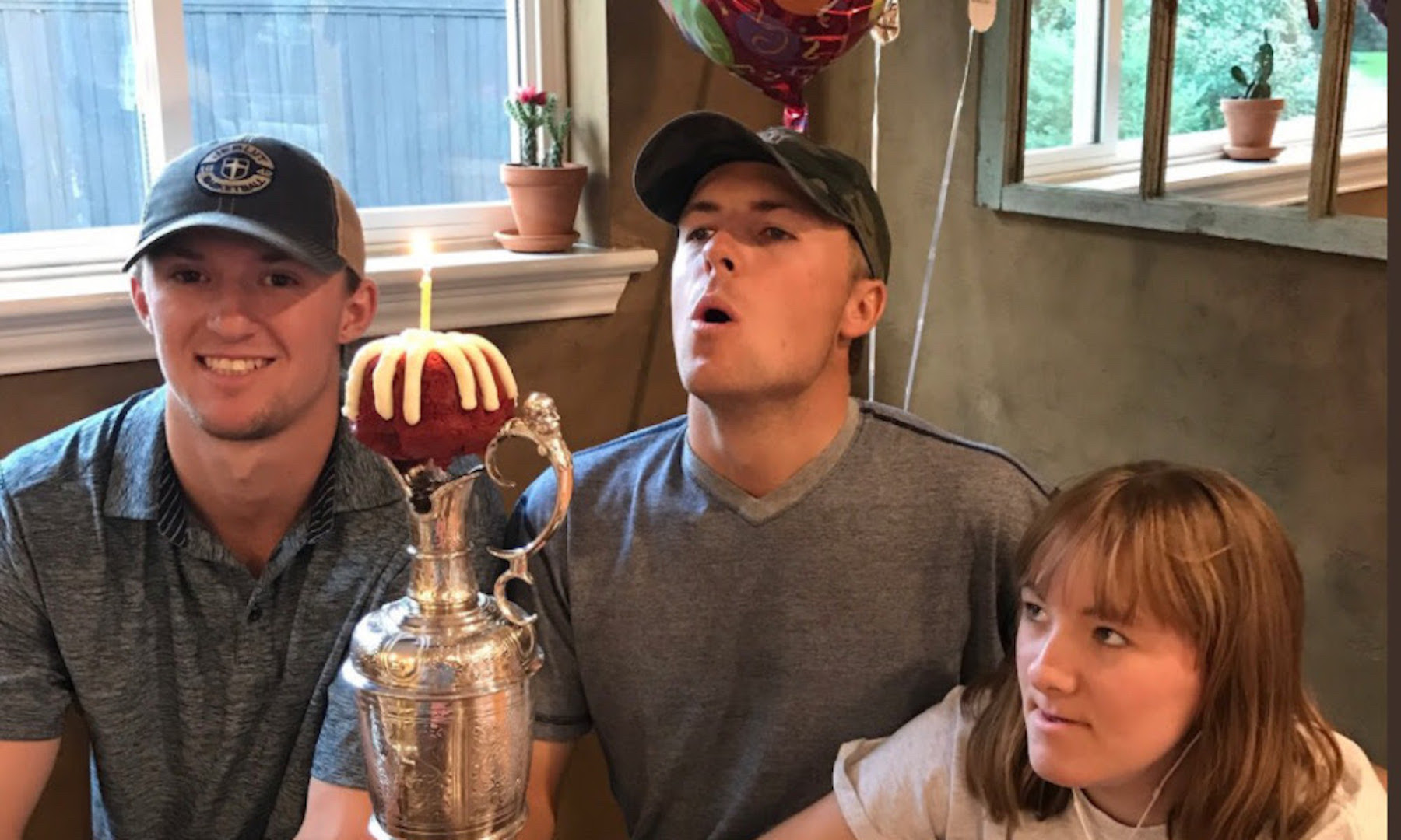 Jordan Spieth celebrates his 24th birthday in style