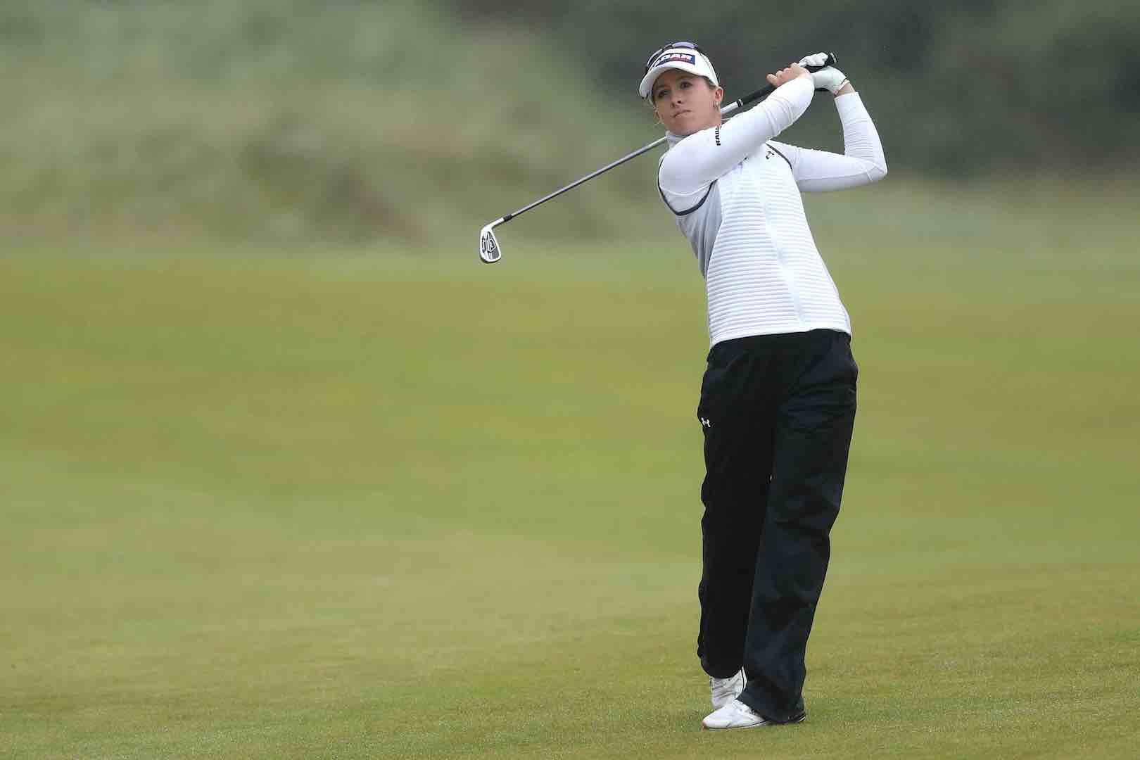 Jodi Ewart Shadoff pushes In Kyung Kim all the way