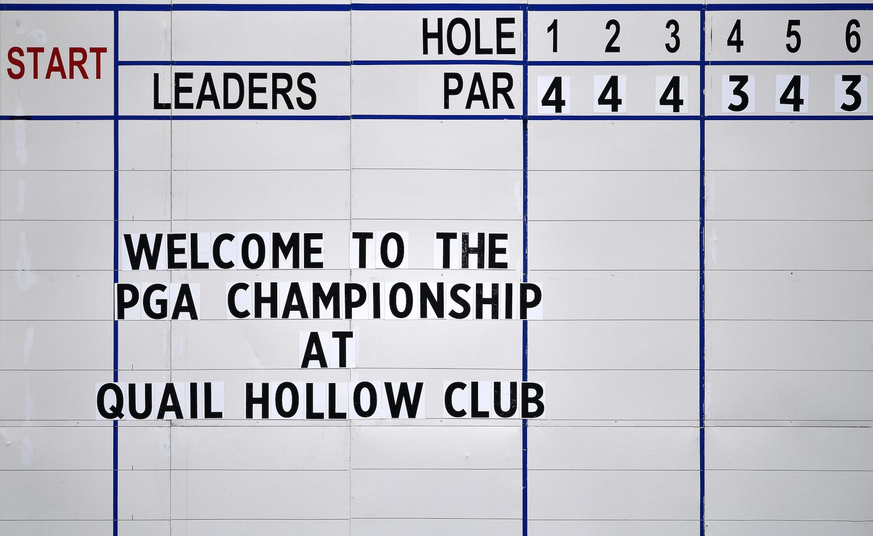 USPGA Quail Hollow 1st round tee times & pairings