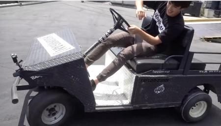 Hoonigans transform golf cart