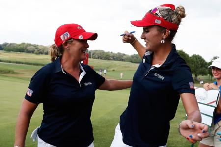 Solheim Cup opening morning results called