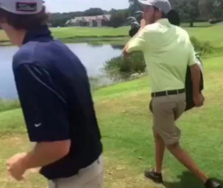 Man throws entire golf set into lake