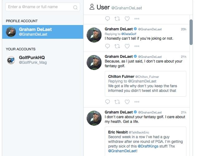 Graham DeLaet in twitter storm over fantasy league