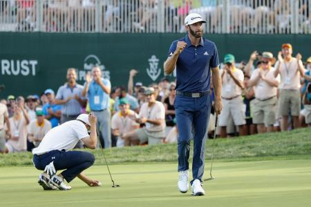 Dustin Johnson wins Northern Trust Open play off