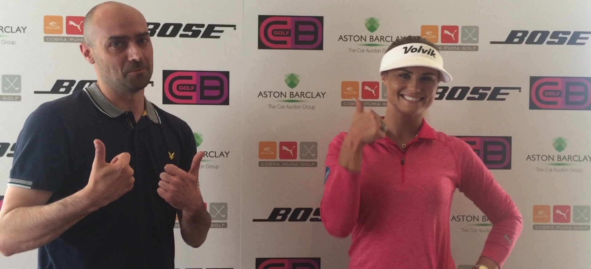 Carly Booth's golf day