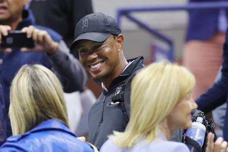 Tiger Woods spotted in Rafa Nadal's seats