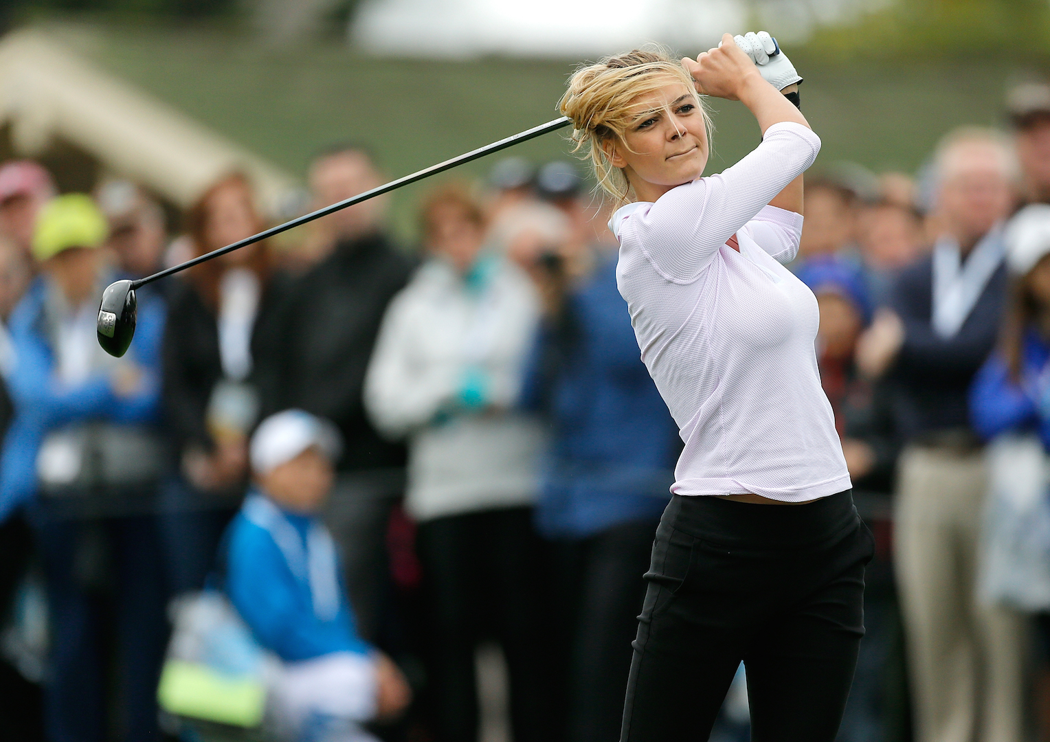 Baywatch star Kelly Rohrbach's  golf dream comes true