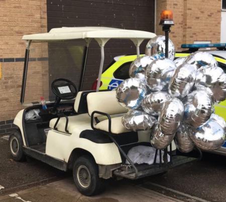 Drunk man arrested on golf cart