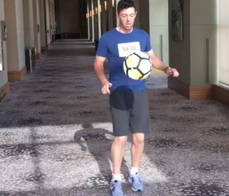 Rory McIlroy accepts Cristiano Ronaldo's football challenge