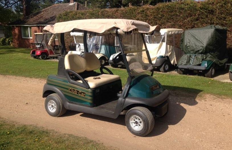Organised thieves rob golf £7,000.00 buggies