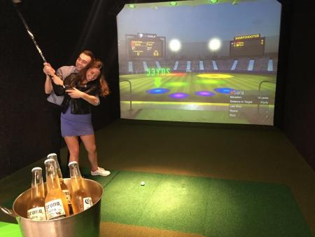 Swapping night clubs for golf clubs
