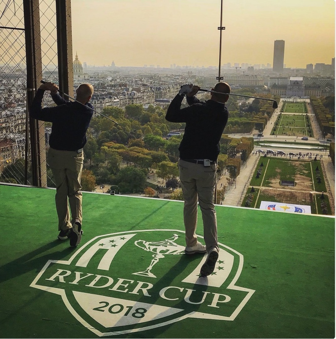 Furyk & Bjorn recreate iconic moment in golf history