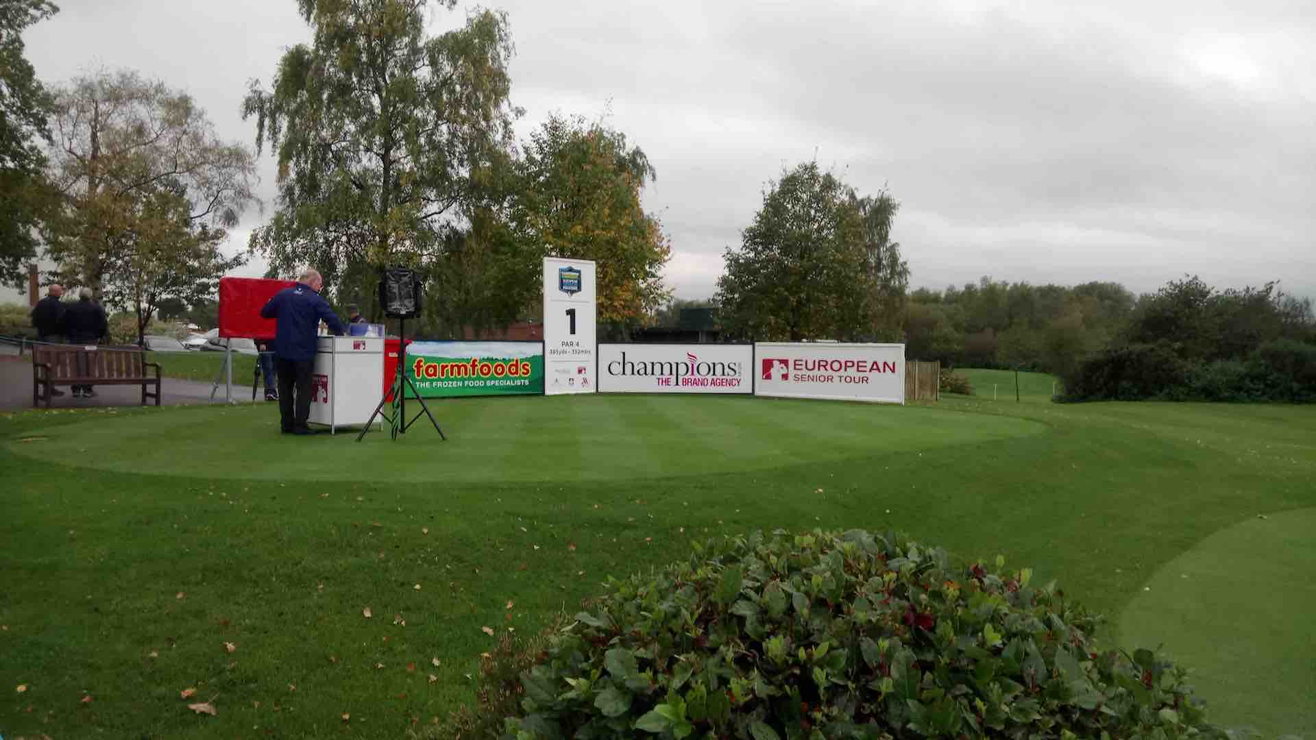 Next on the tee...GolfPunk at the European Senior Masters
