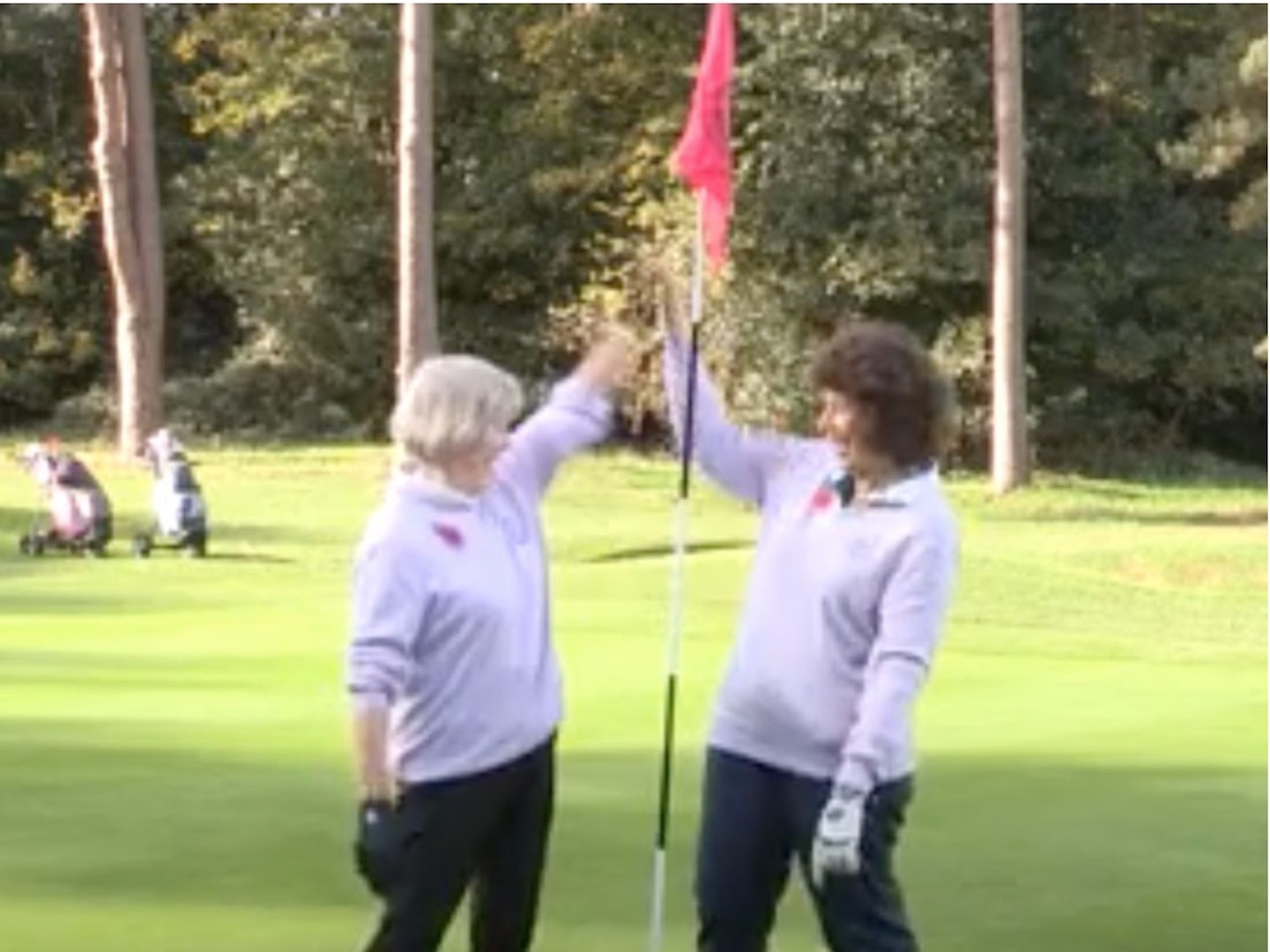 Two holes in one in successive shoots