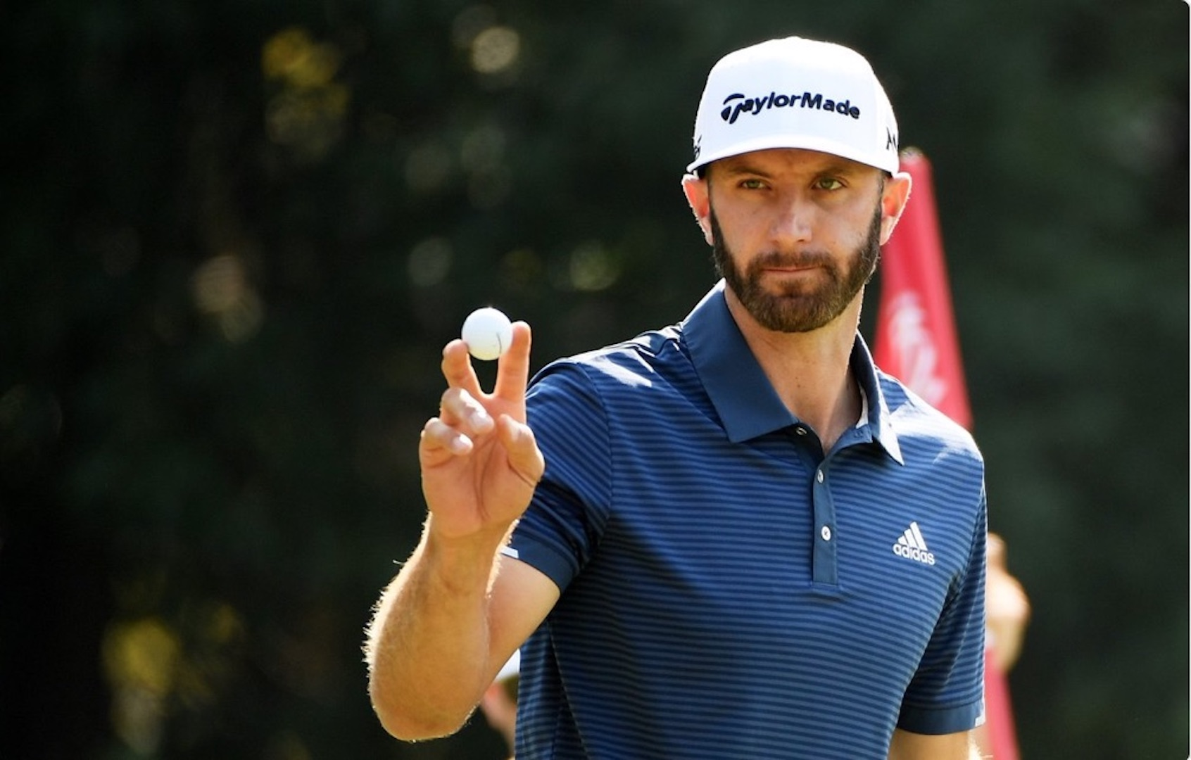 Dustin Johnson in charge at the HSBC Champions