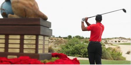 Tiger Woods is officially back on it