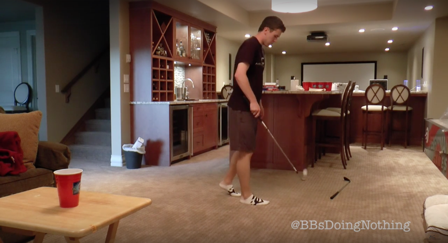 Double Golf Club Trick Shot Video