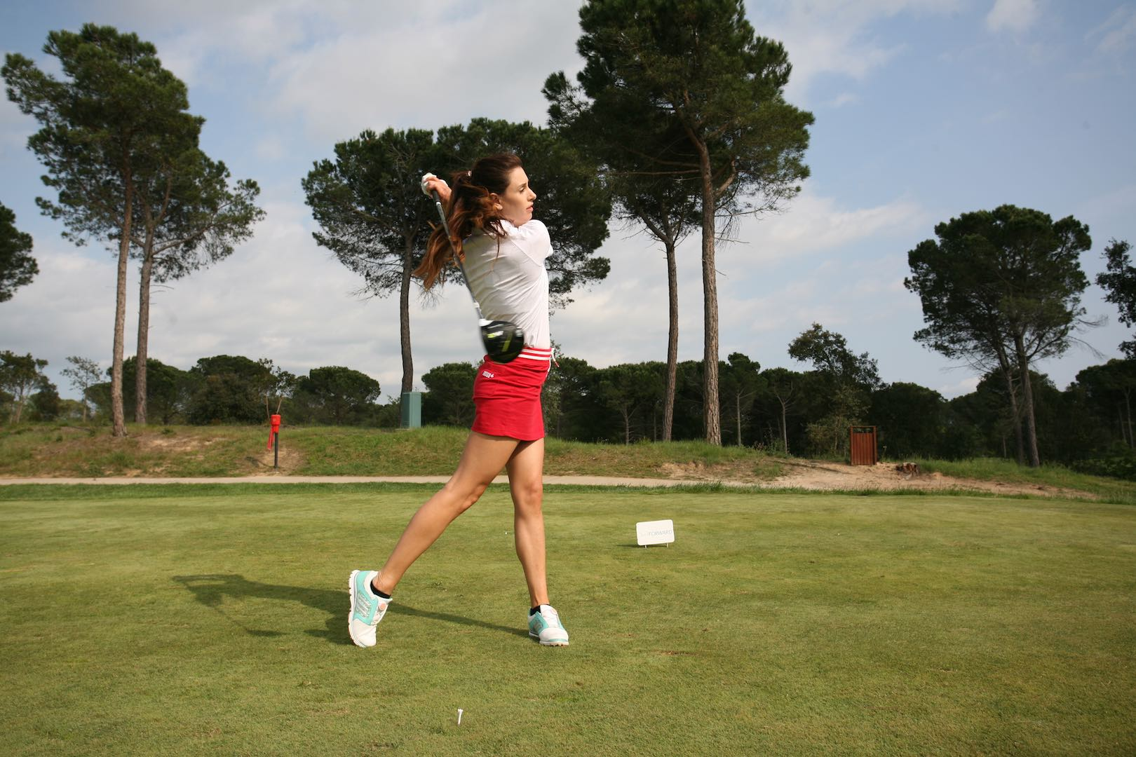 Left shoulder, right foot. How to hit perfect drives