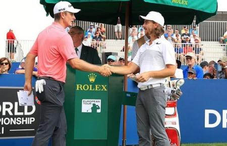 Justin Rose, Tommy Fleetwood, Dubai 2017