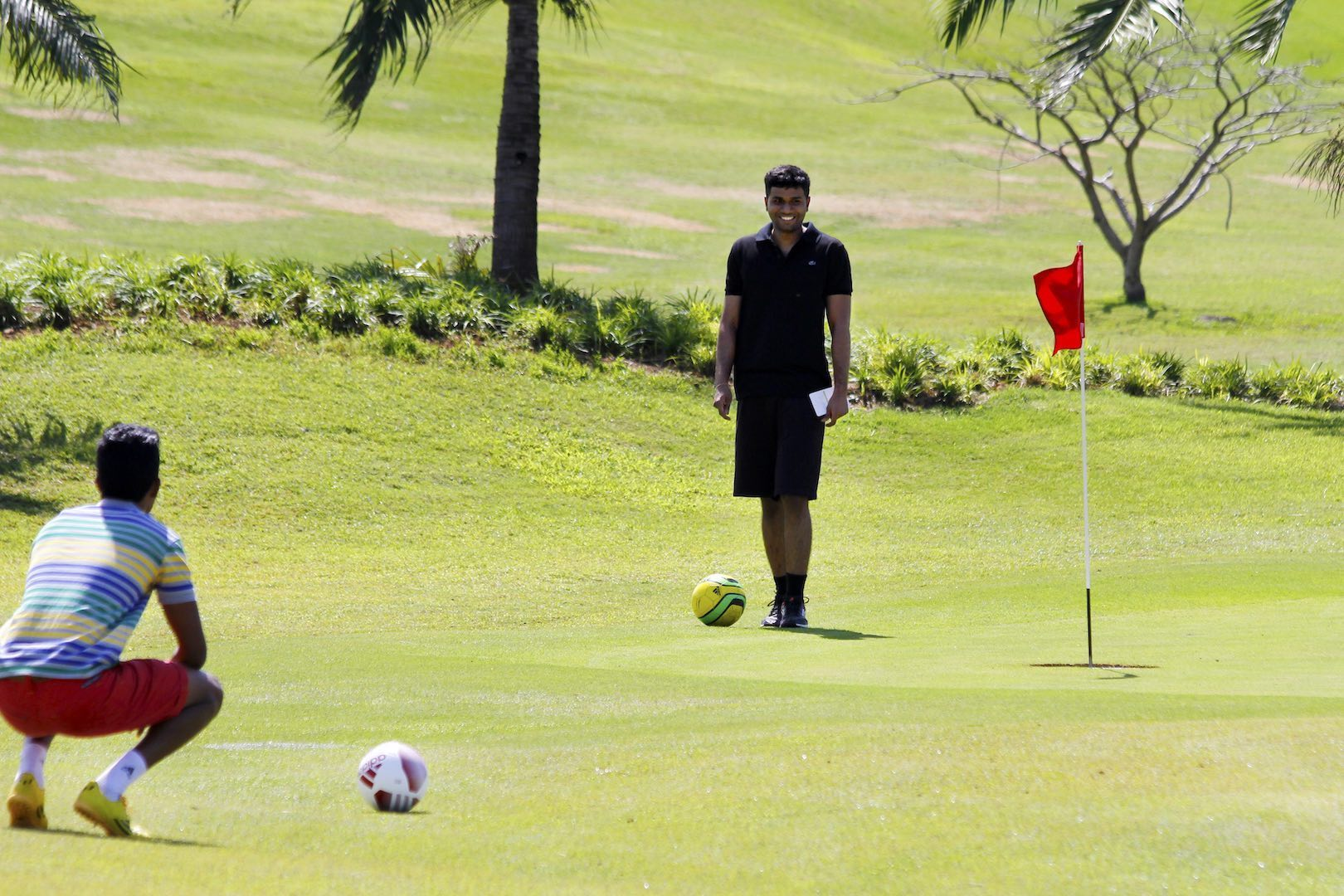 Louis Oosthuizen to tackle Liverpool players in FootGolf