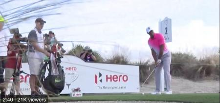 Watch Tiger Woods first four holes of the Heroes Pro-Am
