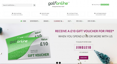Christmas Promotion from GolfOnline