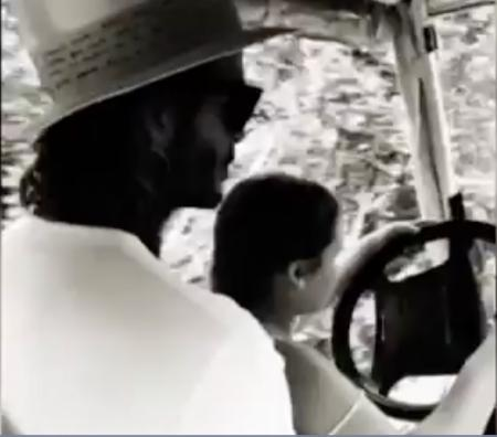David Beckham takes flack for letting daughter drive golf buggy