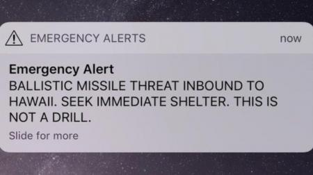 Ballistic missile threat at Hawaii Open