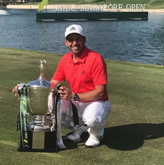 Sergio Garcia begins 2018 with decisive victory in Singapore Open
