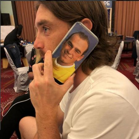 Tommy Fleetwood's cheeky new phone cover