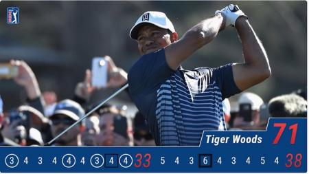 Tiger Woods makes the cut at Torrey Pines