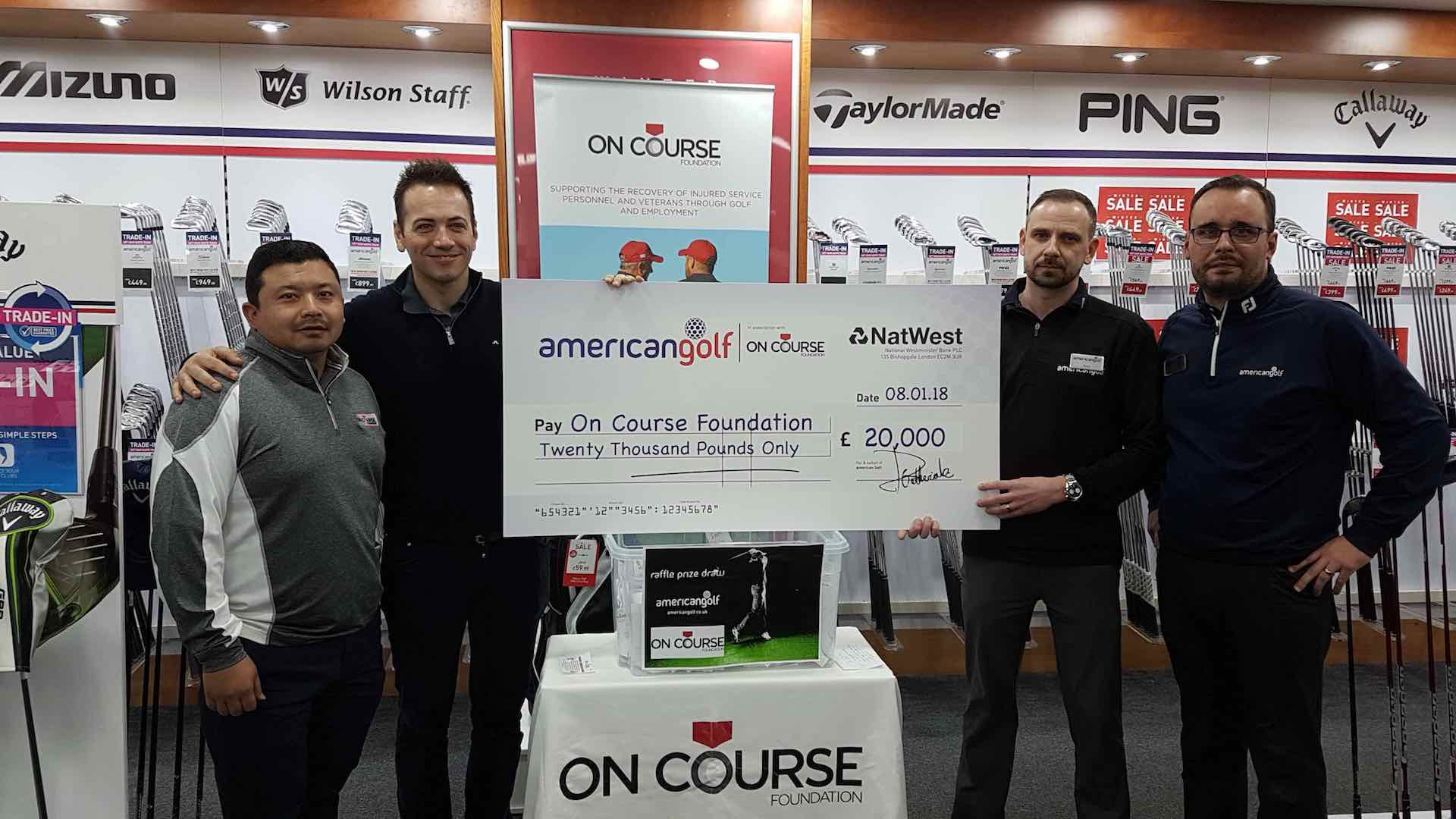 American Golf customers raise £20,000 for Forces golf charity