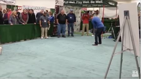 Man sinks 120 foot putt to win $100,000 in prizes