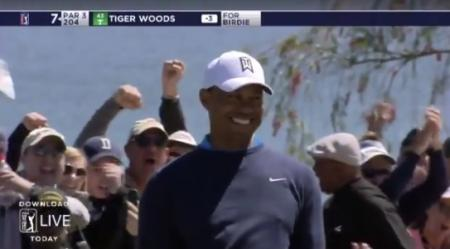 Tiger Woods in contention at Bay Hill
