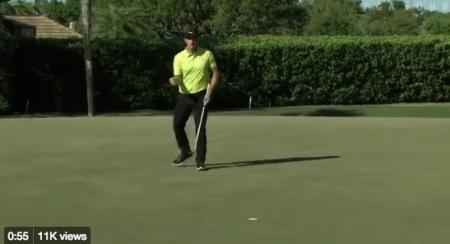 Rory lurking & Tiger crouching at Bay Hill.
