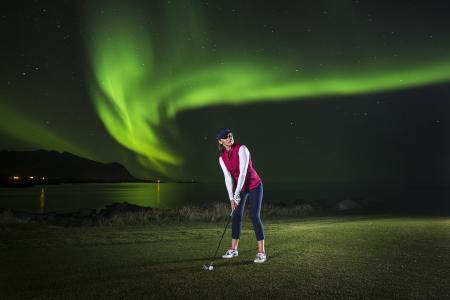 Golf under the Northern Lights