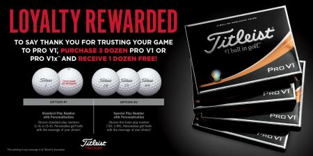 Titleist launches popular ball promotion for 2018